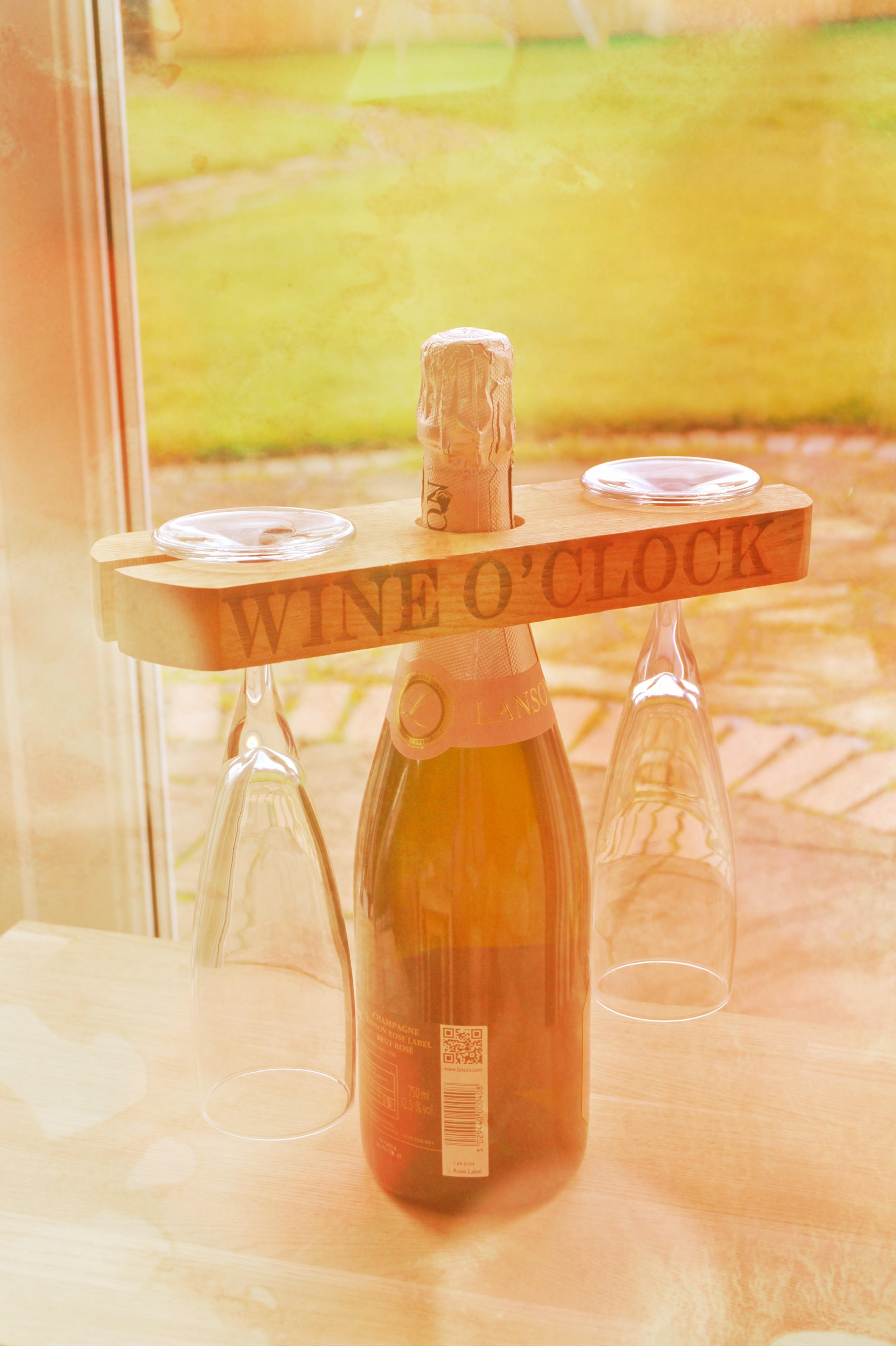 Wine Holder Oak Bloke
